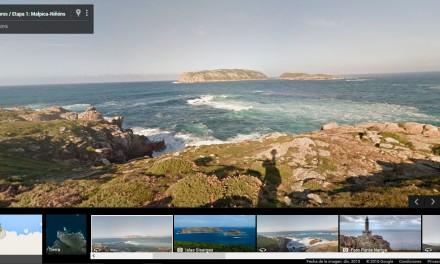 O camiño dos Faros en Google Street View